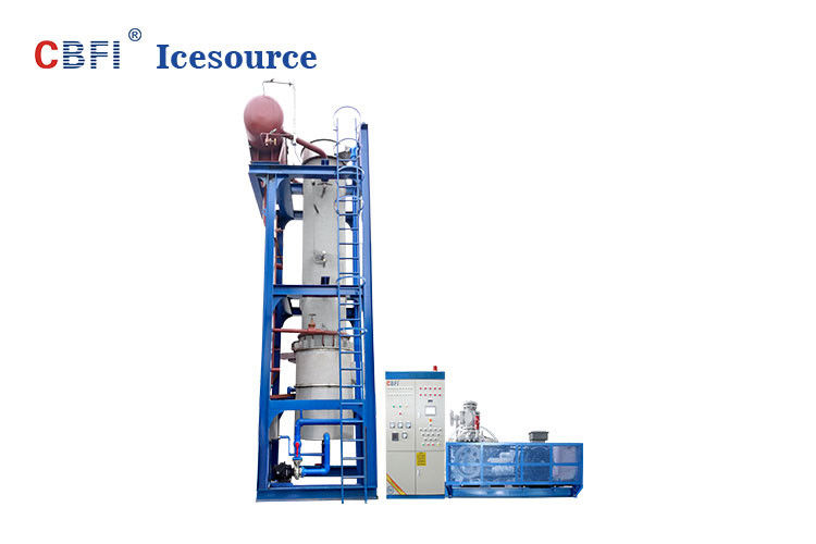 Water Cooling 24 Hours Running Ice Tube Machine Denmark Danfoss Expansion Valves supplier