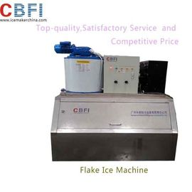 China 1000kg Capacity Air Cooled Small Flake Ice Machine For Home With Imported Compressor distributor