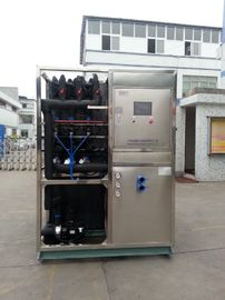 China R22 / R404a Refrigerant Industrial Ice Maker Machine , Air Cooled Ice Maker distributor