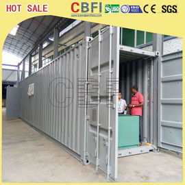 China 5 Ton Per Day Containerized Block Ice Machine, Ice Block Making Business  distributor