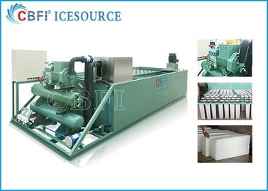 China Evaporative / Air / Water Cooled Ice Machine , Automatic Ice Machine Large Production distributor