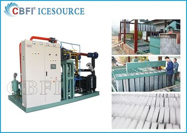 China 50 tons Large Capacity   Ice Block  Machine  Power Saving with Coil Evaporator Design Saving Power distributor