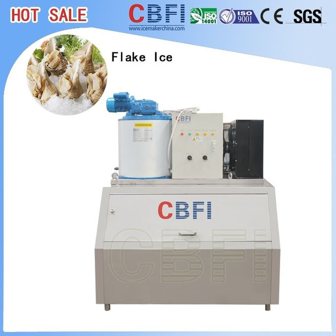 1mm ~ 2mm Fresh / Brine Water Flake Ice Maker For Food Preservation