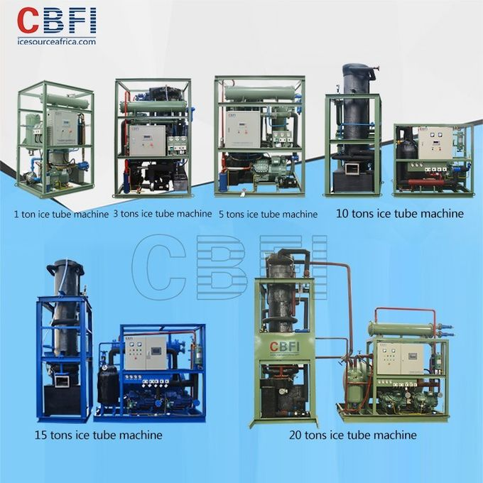 1 - 30 Ton Daily Capacity Tube Ice Machine For Bar , Restaurant , Hotel