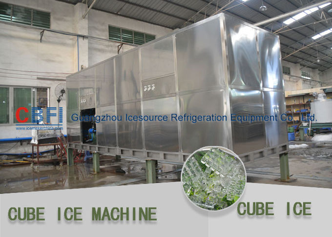 Large Daily Capacity Ice Cube Maker Machine / Making Machine 1000 Kg - 10000 Kg