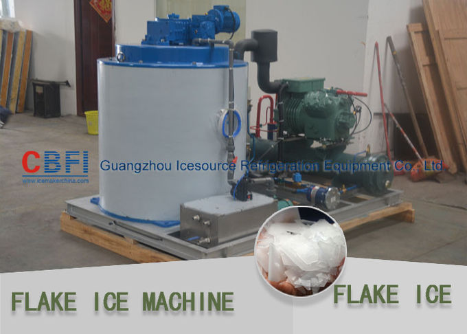 20 Tons Flake Ice Machine Stainless Steel Evaporator For Concrete Processing