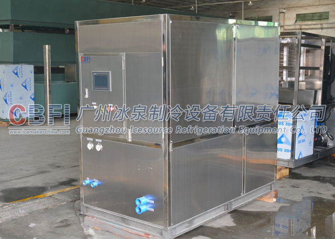 Electricity Saving Large Capacity Ice Cube Machine , 1 Ton Per 24 Hours