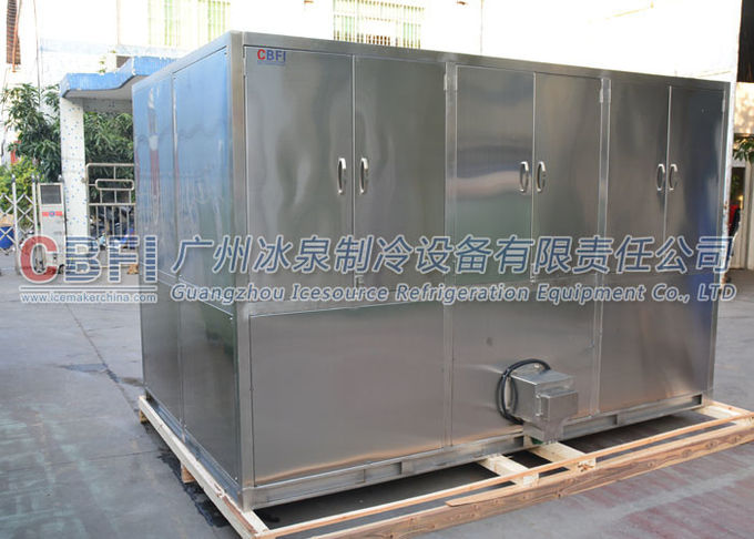 ISO Approval Large Ice Cube Machine With Stainless Steel Ice Bin / Dry Filter Coil