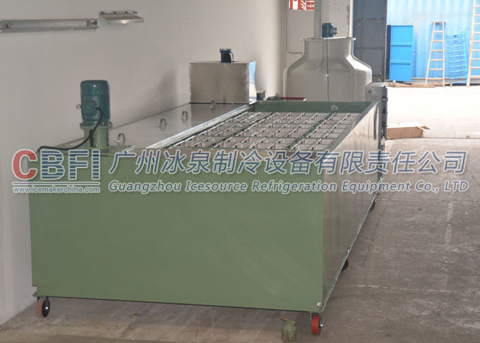 BITZER Compressor 10 Ton Ice Block Machine For Big Ice Block Produce Energy Saving