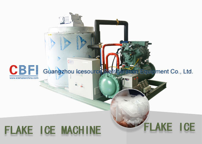 Heavy Duty Flake Ice Machine For Fishery 500kg to 30 ton / 24hrs