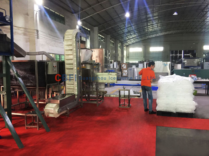 High Efficiency Automatic Ice Packing Machine For Ice Plant Save Labour Working