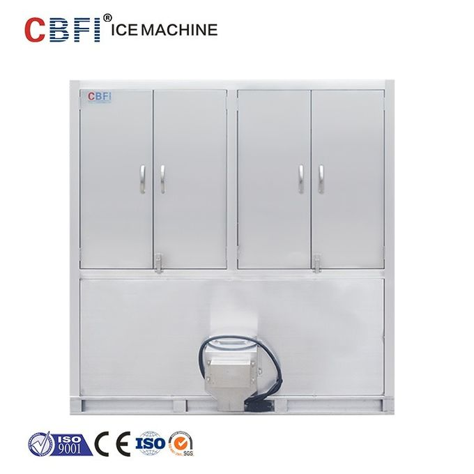 Stainless Steel Automatic 3 Ton Cube Ice Machine Energy Saving