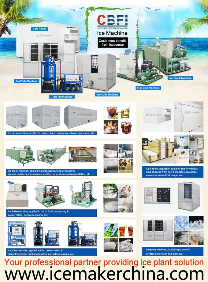 Air Cooled Cube Ice Making Machine Large Capacity 3000Kg /24h