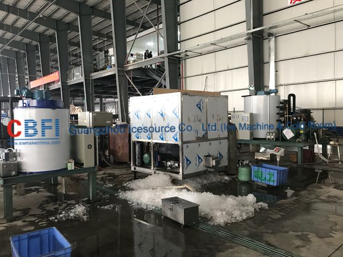 22*22*22mm R507 Refrigerant Ice Cube Machine For Indonesia Ice Plant