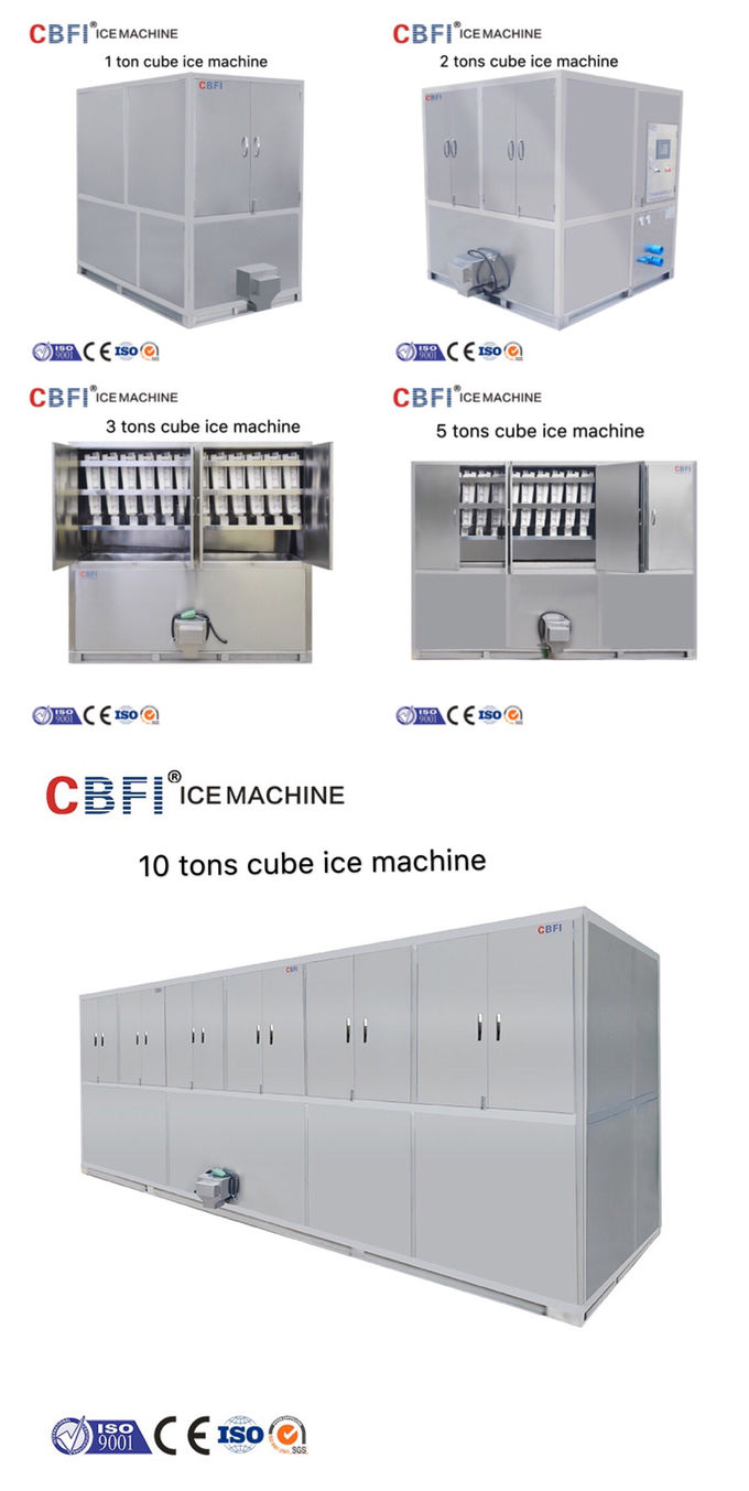 Professional Ice Cube Machine / Commercial Ice Maker 22*22*22mm