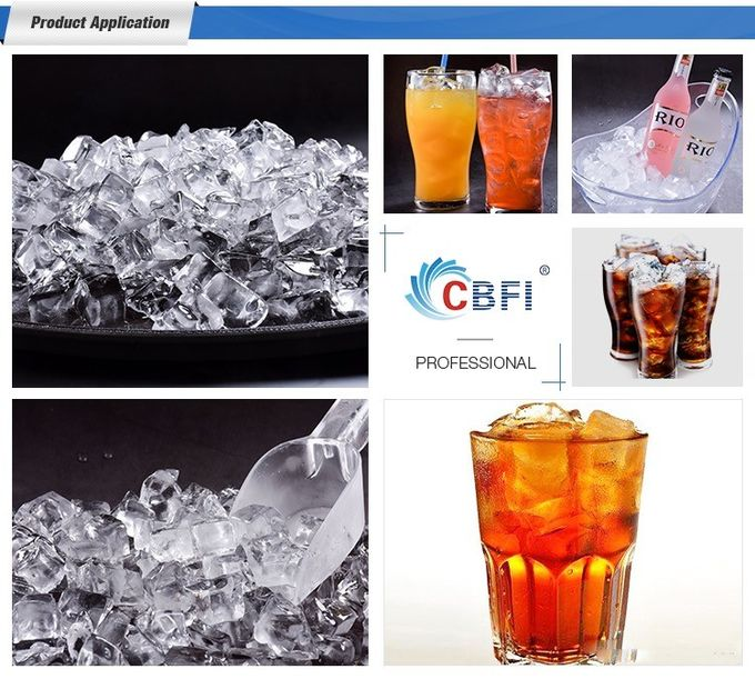 2 tons Commercial Original CBFI Cube Ice Machine from Machine Inventor for Africa Countries  for Hot Weather Area